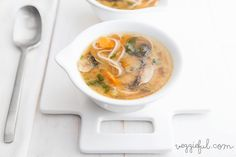 Veggieful: Vegan Vegetable and Soba Miso Soup Recipe