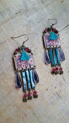 *Dream on* Boucles d'oreilles - style boho chic : Boucles d'oreille par echappee-perles