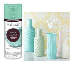 """Valspar's new """"milk glass"""" spray paint"""