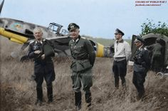 Werner Mölders in Russia with his Bf 109 in 1941