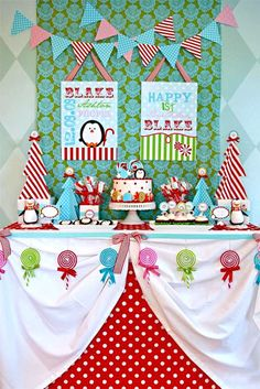 Fiesta de cumpleaños de pingüinos navideños - Inspiración e ideas para fiestas de cumpleaños - Fiestas de cumple para niños - Charhadas.com