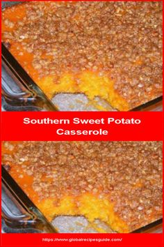 Southern Sweet Potato Casserole - Daily World Cuisine Recipes Holiday Recipes, Holiday Meals, Whats Gaby Cooking, Sweet Potato Casserole, Daily Meals, What To Cook, Macaroni And Cheese, Cooking Recipes, Potatoes