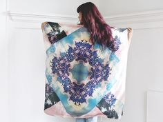 SILK SCARF  Pastel Prism by scoutandcatalogue on Etsy, $128.00
