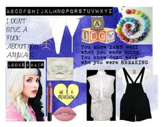 """""""Alphabet Boy"""" by creepymidnight on Polyvore featuring beauty, Lime Crime, Urban Decay, Melanie Auld and American Apparel"""