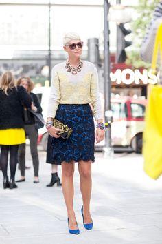 London Fashion Week Spring 2013: Street Style | theglitterguide.com (image Harper's Bazaar)