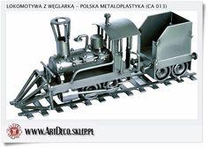 Metalowa lokomotywa Handmade Metalowa rzeźba Polskie rękodzieło