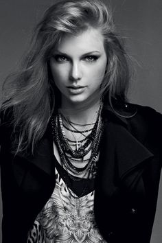 Taylor Swift in a Roberto Cavalli dress, Alexander McQueen jacket, and Tiffany & Co. necklace in Harper's Bazaar Australia