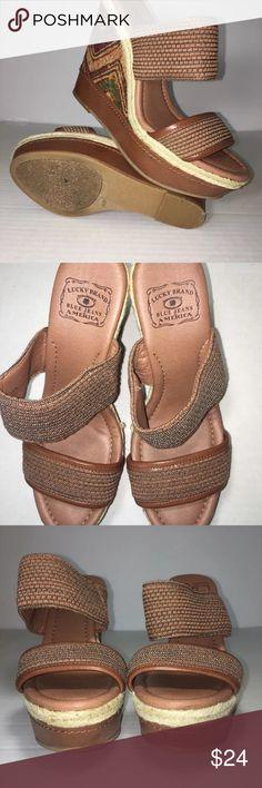 Lucky Brand women's platform sandals Sz 8/12 Excellent Conditions Lucky Brand Shoes Platforms