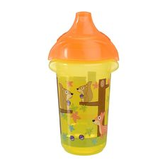 Munchkin Squirrels Yellow 9-ounce Click Lock Sippy Cup