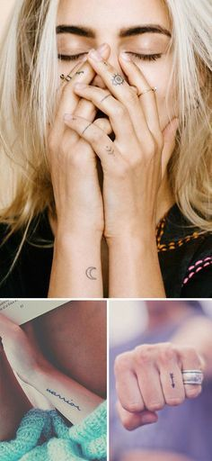 Tattoos are Popular. Even the Small Ones Tattoos have been making a statement in the fashion area lately. With celebrities like Angelia Jolie, Rihanna or Cara Delevingne that all have been showcasing their new tattoos in the last few years.