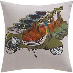 "scooter patrol 16"" pillow in pillows 