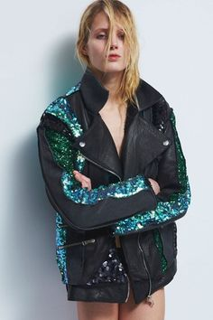 sequin+leather=cool