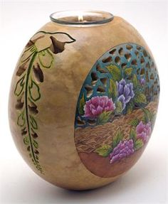 "gourd crafts | Available in one size only, medium 8"" canteen gourd."