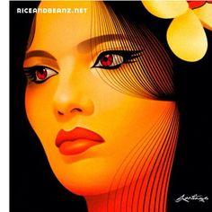 "@riceandbeanz's photo: ""Detail of Amalia from Dominican Republican 2009 _____________________________________ #Quisqueya #DominicanRepublic #Portrait #art #Illustration #Santiago"""