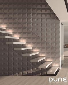JAPAN SMOKE - 25X25cm -  Tile with 3D relief, in the form of a truncated pyramid. In matt-grey, allowing for plenty of variation in the way it is used to achieve a play of volumes that accentuate the light. #duneceramica #creativity #tiles #decoration #design #home #interiors #lifestyle #architecture #style #fashion #creatividad  #azulejos #diseño #decoración #casa #interiores #estilodevida #arquitectura #estilo … www.dune.es