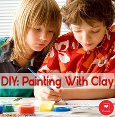 Learn how you and your kids can paint with clay in our Learning Toolkit blog.