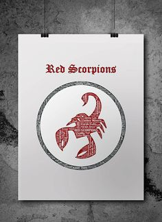 Red Scorpions Warhammer 40K Printable Poster by ZsaMoDesign