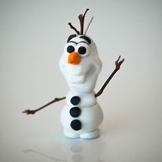 Polymer Clay Olaf: crafts from frozen by @Spoonful