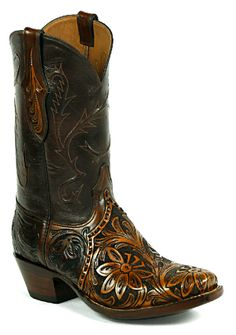 Hand-Tooled Leather Boots Style HT-192 Custom-Made by Black Jack Boots