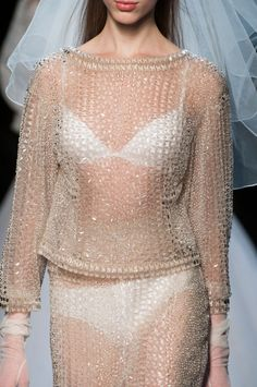 Jean Paul Gaultier Spring 2015 Runway Pictures - StyleBistro Apparently this is a wedding dress...unusual.