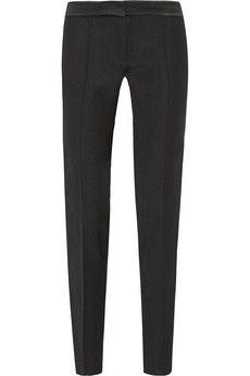Pallas Aurore satin-trimmed crepe straight-leg pants   NET-A-PORTER
