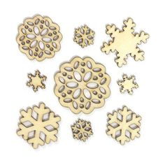 Wonderland Wood Veneer Snowflakes at Studio Calico