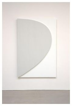 """Ellsworth Kelly, """"Gray Curve Relief,"""" 2010, oil on canvas, two joined panels, 80 1/8 x 52 3/4"""""""