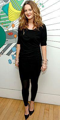 Drew Barrymore wearing Cara Croninger