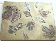 Mod podge leaves