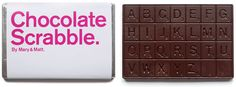 Words have never been so... satisfying. Mary & Matt Create a Dark Chocolate Scrabble Bar.