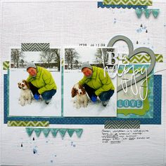 #papercraft #scrapbook #layout be happy - Imaginisce | Flickr - Photo Sharing!