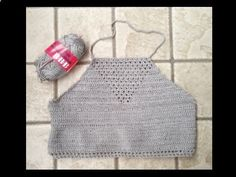 DIY Crochet Open Halter Top. This crochet top has been trending, so I though I would give it a try and show you what happened. I know it does not look exactl...