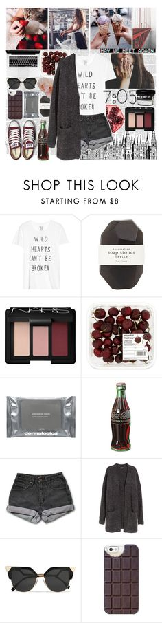 """""""We Both Can't Take A Compliment"""" by nsrogsy3 ❤ liked on Polyvore featuring Zoe Karssen, Pelle, NARS Cosmetics, Dermalogica, Retrò, PèPè, H&M, Fendi, Casetify and Converse"""