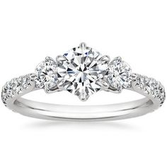 18K White Gold Gramercy Diamond Ring, top view