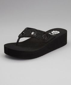 Take a look at this Black Keiba Flip-Flop by Yellow Box Shoes on #zulily today!