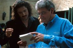 Bedazzled Movie | Bedazzled (movie) BRENDAN FRASER and director HAROLD RAMIS confer on ...