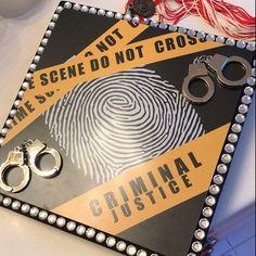 Graduation Cap Tassel, Graduation Cap Designs, Graduation Cap Decoration, Grad Cap, College Graduation, Graduation Ideas, Criminal Justice Graduation, Social Control, Cap Decorations