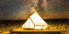 From safari-style canvas tents among the redwoods to bamboo temples in the jungle, these glamping sites bring luxury to nature. Tent Camping, Glamping, Zion National Park, National Parks, Shawnee Inn, Canvas Tent, Luxury Tents, Grand Staircase, Rv Parks
