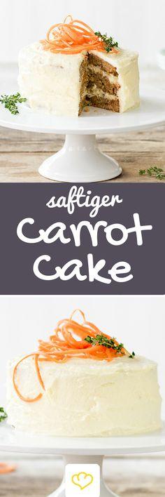 Saftiger Carrot Cake Und dann war da diese eine Torte in einem kleinen unscheinbaren Café in Greenwich Village. Carrot Cake. Meine große Liebe.Ein Bissen und der Trubel auf New Yorks Straßen war vergessen. Ich hatte meinen Kuchenfrieden gefunden. Warum? Karotten verleihen der Torte Biss, Muskat, Zimt und Nelken bringen eine überraschende Würze und cremiges Frischkäse-Frosting rundet die Kombination ab.