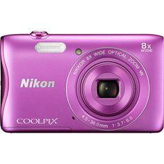 Nikon COOLPIX S3700 20.1MP 720p HD Video Digital Camera - Pink