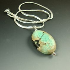 Landscape Patterned Turquoise Pendant Aqua by CalliopeAZCreations, $28.00