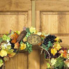 A Monogrammed Wreath Hanger