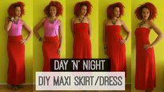 ∞ One2DIY | DIY Maxi Skirt & Dress | Day 'N Night OOTD ∞