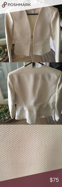 Club Monaco off white suit jacket Beautiful off white Club Monaco Jacket! Worn once!!! Club Monaco Jackets & Coats Blazers