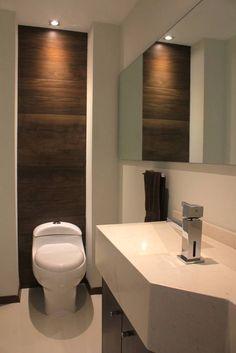 Busca imágenes de diseños de Estudios y oficinas estilo moderno}: Baño privado. Encuentra las mejores fotos para inspirarte y y crear el hogar de tus sueños.