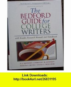 Bedford Guide for College Writers 7e 2-in-1  i-claim (9780312418083) X. J. Kennedy, Dorothy M. Kennedy, Marcia F. Muth, Sylvia A. Holladay, Patrick Clauss , ISBN-10: 0312442939  , ISBN-13: 978-0312418083 ,  , tutorials , pdf , ebook , torrent , downloads , rapidshare , filesonic , hotfile , megaupload , fileserve