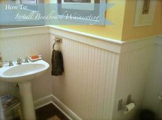 Wainscoting is one of the best ways to dress up a boring room. And for a historic home's bathroom, nothing fits better than beadboard wainscoting ... Or you can use beadboard wainscoting wallpaper, available at http://www.bathroom-paint.net/bathroom-paint-alternatives.php