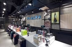 Primark store Oxford Street Dalziel and Pow London 06 Cash Counter Design, Shop Counter, Primark Shop, Dive Shop, Retail Store Design, Branding Materials, Oxford Street, Store Displays, Visual Merchandising