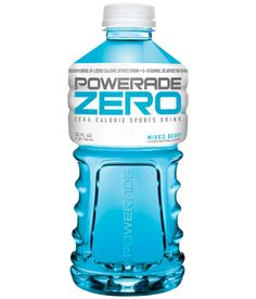 Powerade Zero: a great neutral drink to use while exericising or to sip on throughout the day.