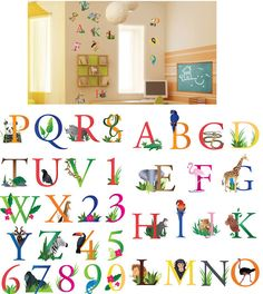 Art Applique Letters and Animals Wall Sticker - Wall Sticker Outlet